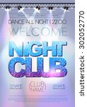 disco background. night club... | Shutterstock .eps vector #302052770