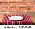 plate  food  wall. | Shutterstock . vector #302063648