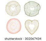 Tree Rings Illustration Set...