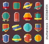 set of retro vintage labels ... | Shutterstock .eps vector #302068454