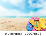 flip flop  shoe  sandal.   Shutterstock . vector #302078678