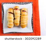 Sausages In Pastry As Halloween ...