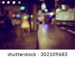 blur or defocus image of coffee ... | Shutterstock . vector #302109683