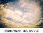 vintage cloud on sky background ... | Shutterstock . vector #302122916