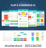 flat e commerce ui  6 screen    ...