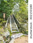 staircase ascent in nature | Shutterstock . vector #302153180