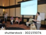 blurred conference room with... | Shutterstock . vector #302155076