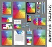 corporate identity template set....   Shutterstock .eps vector #302156210