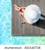 summer holiday fashion concept  ...   Shutterstock . vector #302160728