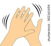 hands clapping symbol. vector... | Shutterstock .eps vector #302161454