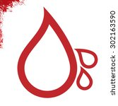 drops of blood simply sign | Shutterstock .eps vector #302163590