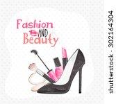 stylish text fashion and beauty ...