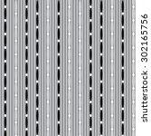 seamless black and white... | Shutterstock .eps vector #302165756