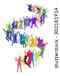 illustration isolated    Shutterstock .eps vector #302181914