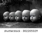 Several Children Head Doll With ...