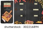 restaurant menu  template... | Shutterstock .eps vector #302216894