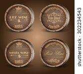 barrel wine   Shutterstock .eps vector #302234543