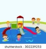 summer children | Shutterstock .eps vector #302239253