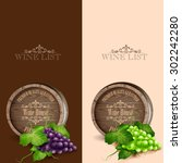barrel wine frame | Shutterstock .eps vector #302242280
