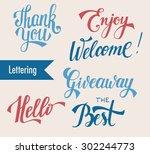 hand drawn elegant catchwords... | Shutterstock .eps vector #302244773