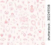seamless background hand drawn... | Shutterstock .eps vector #302245538