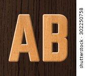 sans serif geometric font with... | Shutterstock .eps vector #302250758