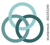 borromean circles vector  logo... | Shutterstock .eps vector #302252240