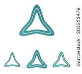 teal line triangle logo design...