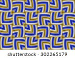 abstract decorative geometrical ... | Shutterstock .eps vector #302265179