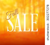 square shaped fall sale sign... | Shutterstock .eps vector #302277278