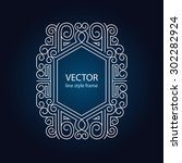 vector geometric linear style... | Shutterstock .eps vector #302282924