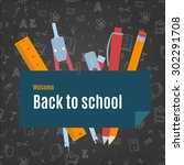 back to school vector background | Shutterstock .eps vector #302291708