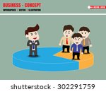 authorized person and share area | Shutterstock .eps vector #302291759