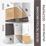 beauty care   salon tri fold... | Shutterstock .eps vector #302296946