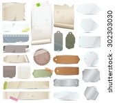 various old remnant pieces of... | Shutterstock .eps vector #302303030