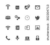 internet and communication... | Shutterstock .eps vector #302304713