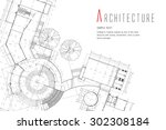 architecture background | Shutterstock .eps vector #302308184