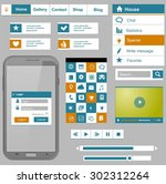 flat icons and ui web elements...