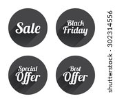 sale icons. best special offer... | Shutterstock .eps vector #302314556