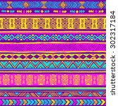 vector seamless colorful neon... | Shutterstock .eps vector #302317184