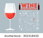 wine infographic. flat style. | Shutterstock .eps vector #302318420