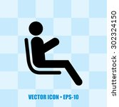 icon of passenger. man at... | Shutterstock .eps vector #302324150