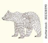 bear illustration on simple... | Shutterstock .eps vector #302328590