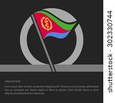 waving eritrea flag badge...