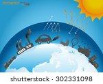 infographics design with...   Shutterstock .eps vector #302331098