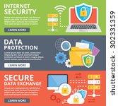 internet security  data... | Shutterstock .eps vector #302331359