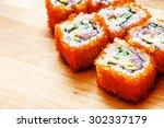 tasty sushi   Shutterstock . vector #302337179