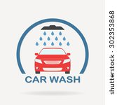 car wash icon or label with... | Shutterstock .eps vector #302353868
