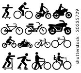 assorted bicycle moped...   Shutterstock .eps vector #30235729