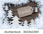 brown christmas label with... | Shutterstock . vector #302362304